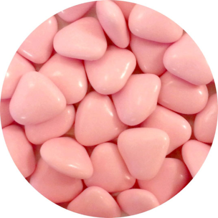 Czekoladowe serca, serduszka różowe (50 g)