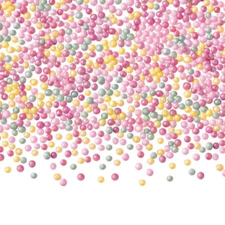 Maczek Cukrowy, Posypka Perłowa Kolorowa, Mix Kolorów - 50 g