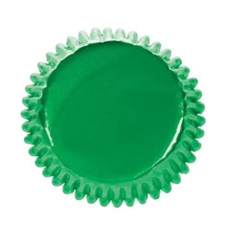 Papilotki Zielone Foliowane Culpitt - 45 szt.