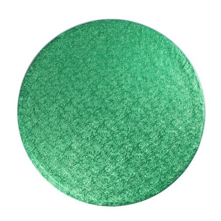 """Podkład pod tort okrągły zielony 20,3 cm (8"""") grubość 1,3 cm"""