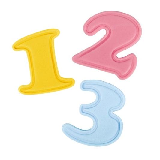 Zestaw dużych wykrawaczek z tłoczkiem Cake Star - Alfabet - Cyfry - 10 szt.