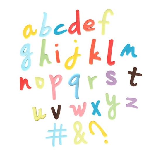 Zestaw wykrawaczek z tłoczkiem Cake Star - Alfabet - pismo odręczne, małe litery