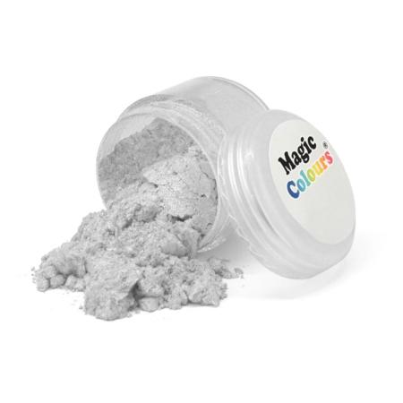 Jadalny srebrny barwnik w proszku Magic Colours Lustre Dust - Pure Silver, Czyste Srebro (10 ml)