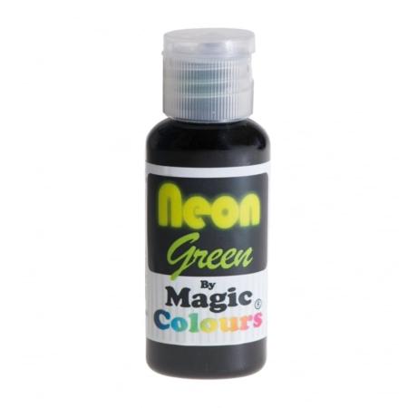 Barwnik w żelu Magic Colours Neon Green, Neonowy Zielony (32g)