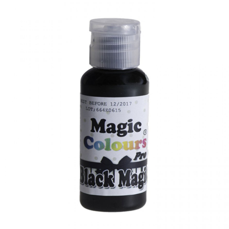 Barwnik w żelu Magic Colours PRO - Black Magic, Czarny (32g)
