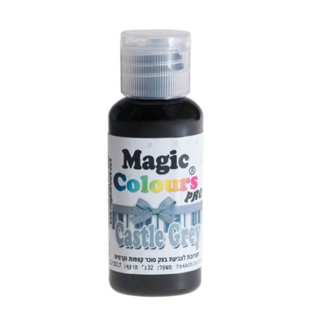 Barwnik w żelu Magic Colours PRO - Castle Gray, Szary (32g)