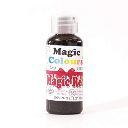 Barwnik w żelu Magic Colours PRO - Magic Red, Czerowny (32g)