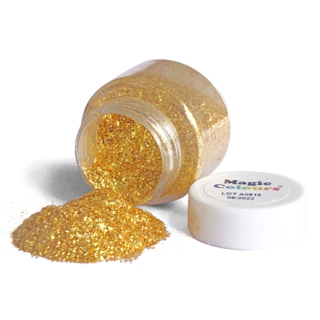 Jadalny Złoty Brokat w proszku Magic Colours Bling Bling Gold (10 ml)