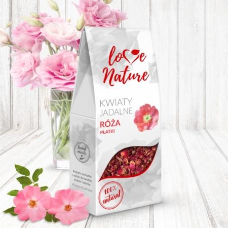 Kwiaty jadalne - Płatki Róży 20g