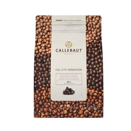 Błyszczące Perełki - Czekolada Mleczna - Callets Sensation Milk - Barry Callebaut - 2,5 kg