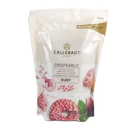 Czekoladowe perełki, posypka Crispearls™ Ruby – Barry Callebaut – 0,8 kg