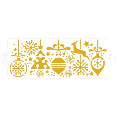 Szablon kulinarny do dekoracji - Choinka, Bombka, Renifer, Płatki Śniegu - Decora III