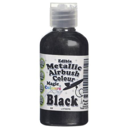 Barwnik do Aerografu Magic Colours - Metallic Black, Metaliczny Czarny(55 ml)