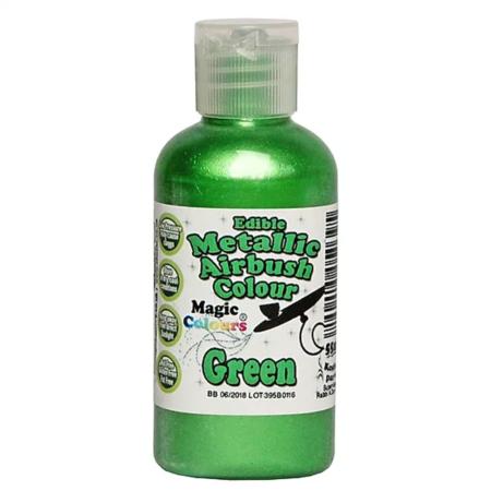 Barwnik do Aerografu Magic Colours - Metallic Garden Green, Metaliczny Jasna Zieleń (55 ml)