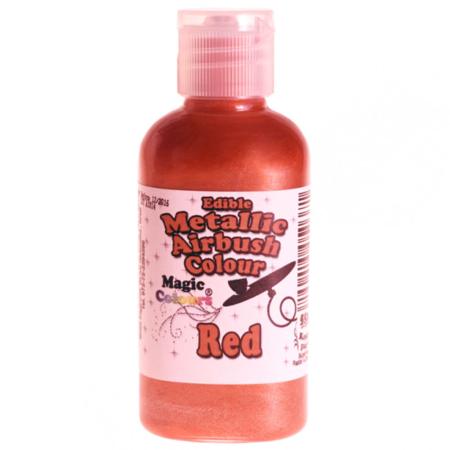 Barwnik do Aerografu Magic Colours - Metallic Red, Metaliczny Czerwony (55 ml)