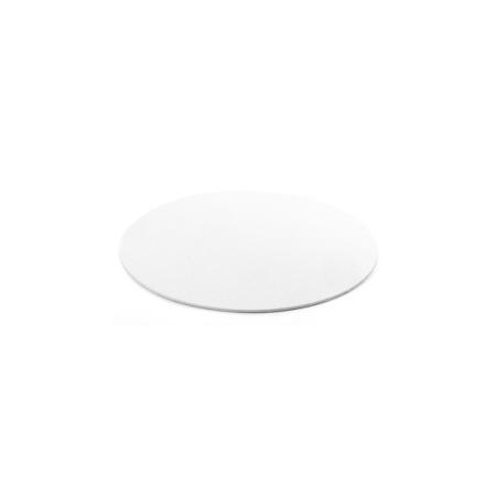 Podkład pod tort prostokątny sztywny, cienki, wytrzymały - Biały Ø 16 cm, grubość 0,3 cm Decora
