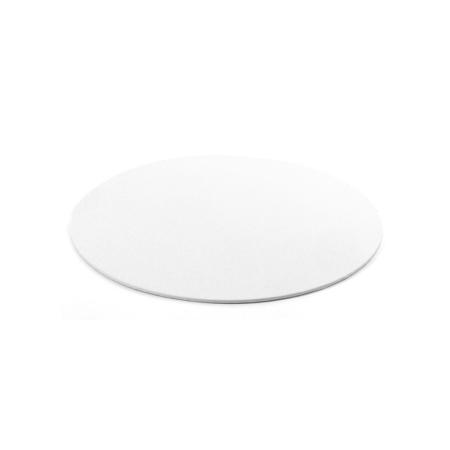Podkład pod tort okrągły sztywny, cienki, wytrzymały - Biały Ø 25 cm, grubość 0,3 cm Decora
