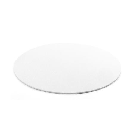 Podkład pod tort okrągły sztywny, cienki, wytrzymały - Biały Ø 30 cm, grubość 0,3 cm Decora