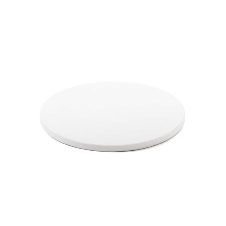 Podkład pod tort okrągły sztywny, gruby, wytrzymały - Biały - średnica: 25 cm, grubość: 1,2 cm - Decora