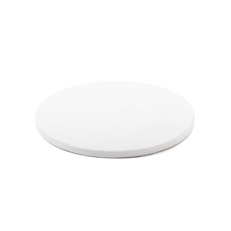 Podkład pod tort okrągły sztywny, gruby, wytrzymały - Biały - średnica: 30 cm, grubość: 1,2 cm - Decora
