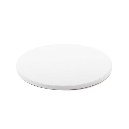 Podkład pod tort okrągły sztywny, gruby, wytrzymały - Biały - średnica: 365 cm, grubość: 1,2 cm - Decora