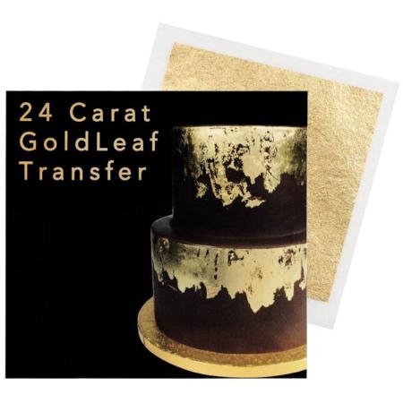 Złoto jadalne 24 karatowe w płatkach do dekoracji - 1 listek 8x8 cm