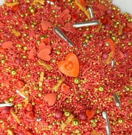 Cukrowa Posypka Gorące Walentynki - 55 g - Ja Posypię