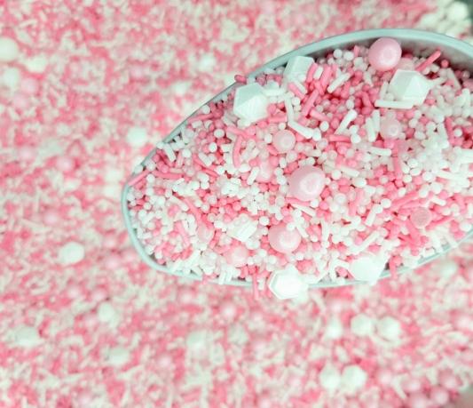 Cukrowa Posypka Różowe Ombre - 55 g - Ja Posypię
