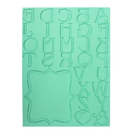 Mata silikonowa Alfabet WIELKIE Litery - 300 x 400 mm - 1 szt. - Pavoni