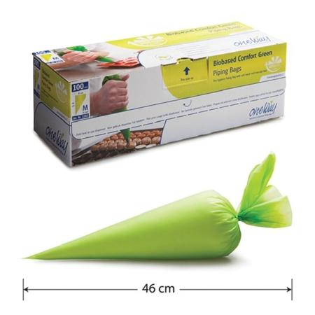 Rękaw Cukierniczy BIO Jednorazowego Użytku, Zielony - 460 mm- One Way