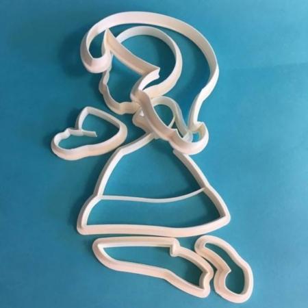 Foremka Klęcząca Dziewczynka Dzielona 10 cm - zestaw - Miniowe Formy