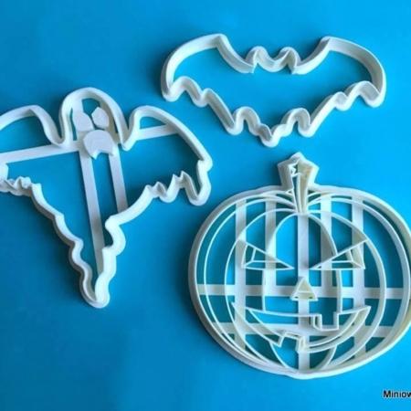 Foremki na tort lub ciasteczka Halloween – zestaw 3 szt. - Miniowe Formy
