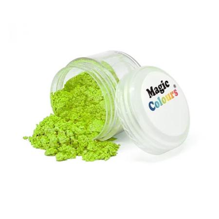 Jadalny błyszczący barwnik w proszku Magic Colours Lustre Dust - Apple Green, Zielone Jabłko (10 ml)