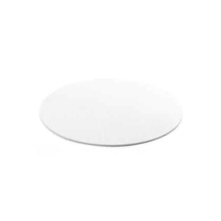 Cienki podkład pod tort Okrągły Biały Ø 22 cm, h 0,3 cm Decora