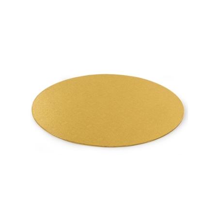 Cienki podkład pod tort Okrągły Złoty Ø 25 cm, h 0,3 cm Decora