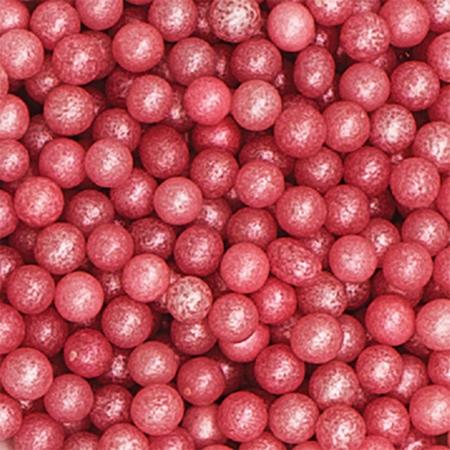 Cukrowa Posypka Różowe Perły 4 mm 100 g - Decora