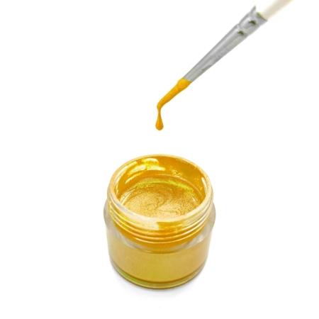 Jadalny barwnik w płynie Magic Colours Sparkle Paste - Gold, Złoty (8g)