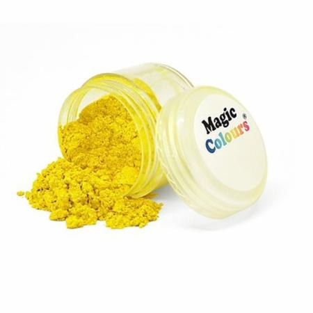 Jadalny barwnik w proszku Magic Colours Lustre Dust - Yellow Light, Żółty (10 ml)