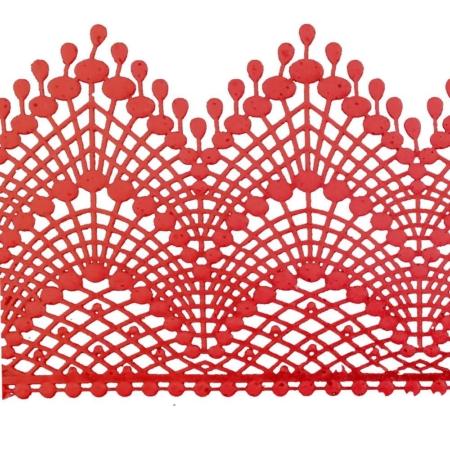 Koronka Cukrowa Czerwona 01 - 3 szt.