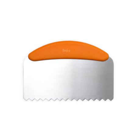 Metalowa Packa do tynkowania, wygładzania tortu w Fale 22,5 cm - Decora
