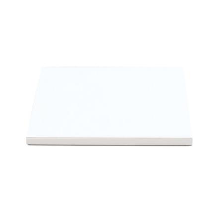 Podkład pod tort kwadratowy sztywny, gruby, wytrzymały - Biały - 20x20 cm, grubość: 1,2 cm - Decora