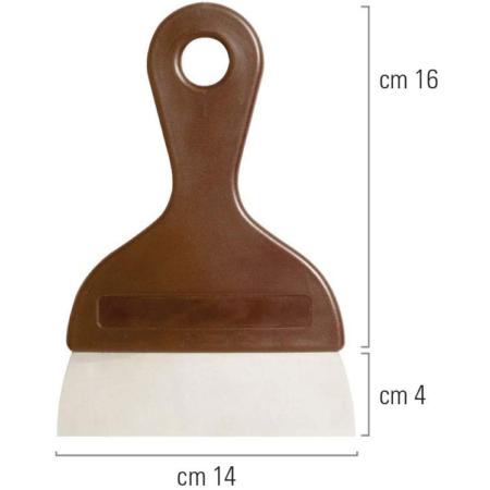 Szpachelka, Szpachla, Skrobkado ciasta i czekolady 14 cm - Decora