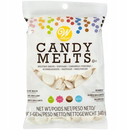 Candy Melts Pastylki Śnieżnobiałe 340 g - Wilton