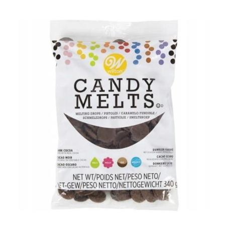 Candy Melts Pastylki Ciemnobrązowe Kakaowe 340 g - Wilton