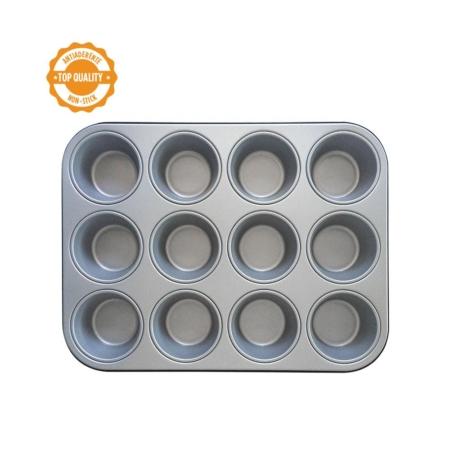 Forma, blacha do pieczenia Muffinek 12 gniazd 35x26x3h cm - Decora