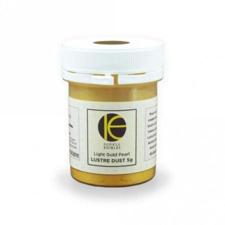 Jadalny barwnik w proszku INGENIOUS EDIBLES Lustre Dust - Light Gold Pearl, Jasne Złoto (5g)
