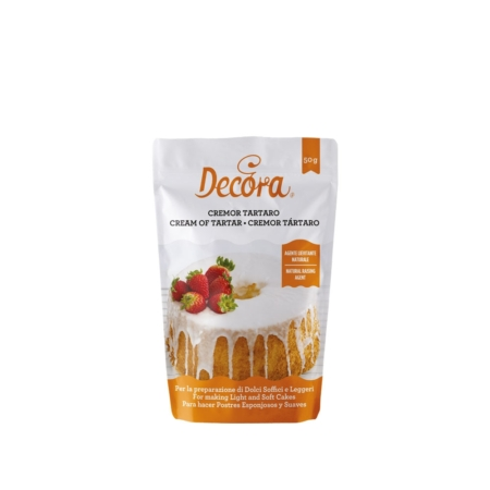 Kwaśny winian potasu, Cream of tartar - 50 g - Decora