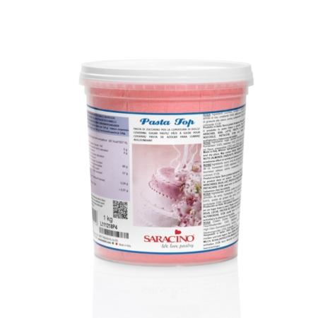 Masa cukrowa Różowa 1 kg - Saracino