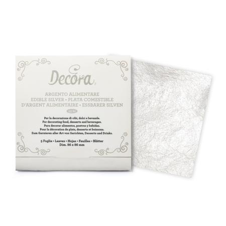 Srebro Jadalne w listkach - Decora