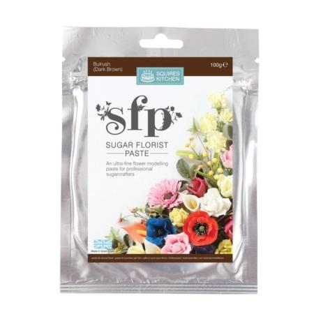 Masa cukrowa do kwiatów Squires Kitchen - Ciemnobrązowy (100g)